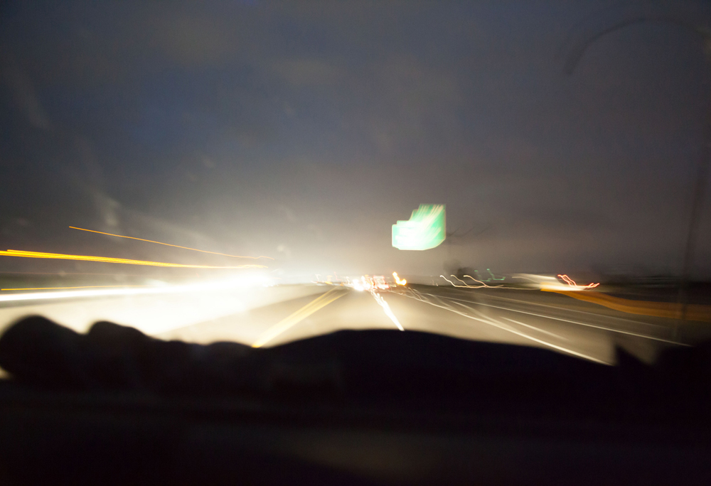 Driving through the night.