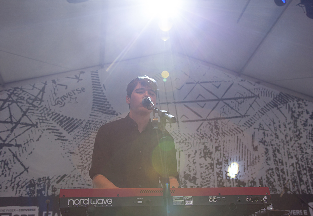 Small Black performs at The Fader Fort, an expansive venue hosted by The Fader magazine.