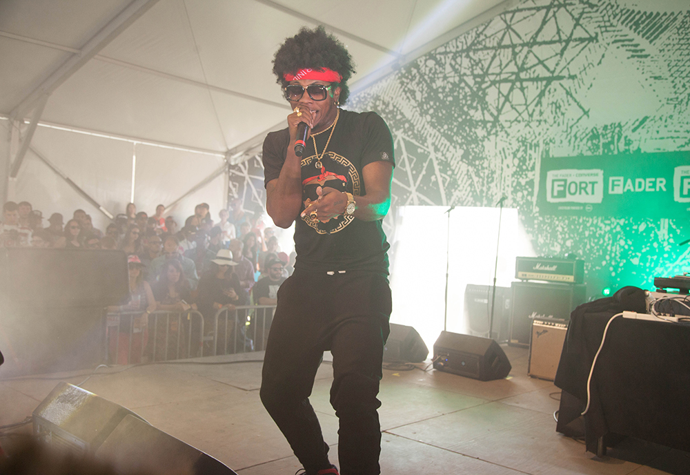 Trinidad Jame$ gets the crowd popping at The Fader Fort.