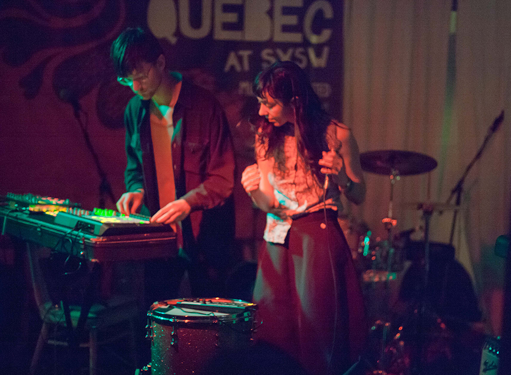 Blue Hawaii plays at a showcase for bands from Montreal.